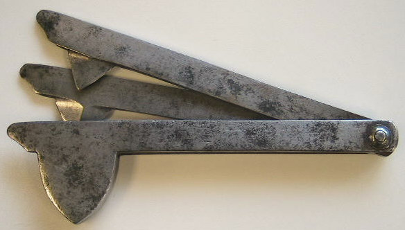 Two blade iron fleam, probably french in origin c. 1830-1840.