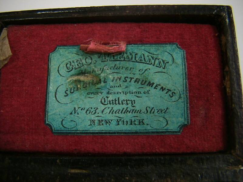 George Tiemann lancet case label